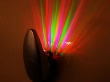 2 x Colorful Rainbow Ray Wall Plug LED Night Light Energy Saving Lamp Kid's Gift