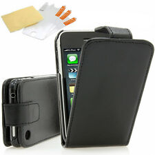 Apple iPhone 3 3G 3GS Flip Tasche Schutz Hülle Cover Flip Case Original schwarz