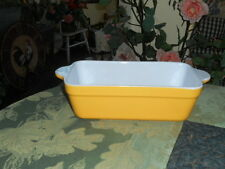 EMILE HENRY FRANCE YELLOW CITRON  BAKING DISH  LOAF PAN NEVER USED