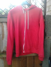 AMERICAN APPAREL RED ZIP UP HOODIE JACKET COAT L