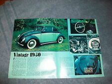 "1950 VW Bug Convertible Vintage Article ""Vintage 1950"" All Original"