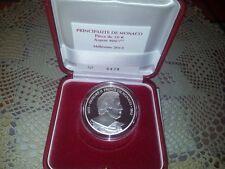 Monaco   10€  2012  BE  proof fondo specchio 400 anni Principato  argento