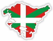 Sticker Silhouette País Vasco Pays Basque Country Spain Map Flag for Bumper Car
