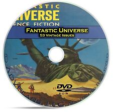 Fantastic Universe, 53 Classic Pulp Magazine, Golden Age Science Fiction DVD C52
