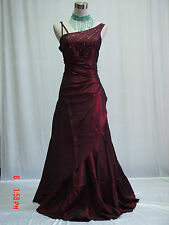 Cherlone Plus Size Red Ballgown Bridesmaid Wedding Formal Evening Dress 26-28