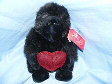 Russ Berrie Gorilla Corazón Throbs 5005 Coleccionable RARO San valentín Regalo