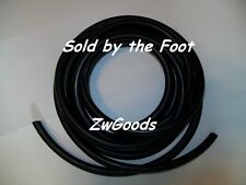 "3/8"" I.D x 1/16"" w x 1/2"" O.D Surgical Latex Rubber Tubing Black By The Foot"