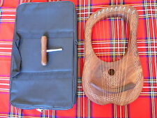 BRAND NEW LYRE HARP 10 STRINGS/ LYRA HARP 10 MEATAL STRINGS FREE CARRY BAG