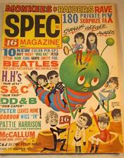 VINTAGE 1967 SPEC MAGAZINE MONKEES BEATLES RAIDERS EX