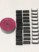 Flat Cable 16 Pins Wires IDC Ribbon 2.54mm pitch 12ft cable & 10 sets connectors