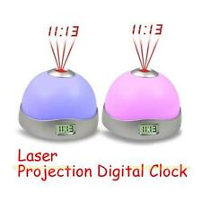 Drôle LED Alarme Horloge Réveil Projection Laser 7 Changement Couleur Lampe Date