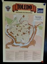 "VINTAGE 1988 POSTER MAP OF TOLEDO SPAIN PORTRAIT BY EL GRECO 19"" X 27"""