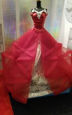 2015 BARBIE HOLIDAY DOLL EVENING GOWN MODEL MUSE COLLECTOR DRESS ONLY