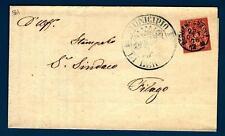 ITALIA - Regno - 1876 - Da Bergamo a Filago - 2 c. - Cifra con ornamenti in co