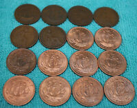 half pennies ALL DIFFERENT DATES choose how many old coin collection