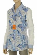 NEW ETRO MILANO PAISLEY STRETCH COTTON BUTTON DOWN SHIRT BLOUSE TOP 50/16