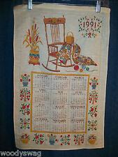 Vintage Calendar 1991 Rocking Chair Sewing Quilt Craft Free USA Ship