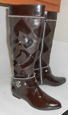 brown ROCA&WEAR ONE INCH THICK low HEEL POINT TOE sexy KNEE BOOT   .Size ...6