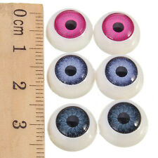 20Pcs(10pairs) Half Round Doll Bear Craft Plastic Eye Mixed Color Eyes 11mm