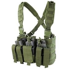 Condor OD MCR5 MOLLE 5.56 .223 Magazine Holster Rapid Assault Chest Rig Vest