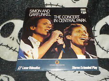 Simon And Garfunkel The Concert In Central Park Laserdisc LD Free Ship$30 Orders