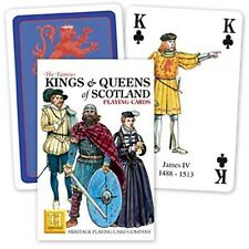 Kings & Queens of Scotland set of 52 playing cards + jokers (hpc)