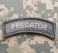 PREDATOR TAB TACTICAL ARMY MORALE MILITARY INFIDEL BADGE ACU LIGHT VELCRO PATCH