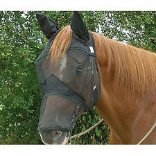 CASHEL FLY MASK STANDARD HORSE QUIET RIDE LONG COVERS NOSE EARS RIDING FOR TRAIL