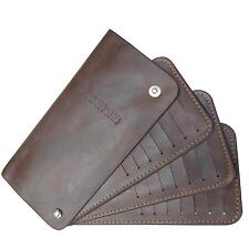 Asman - 42 card slots * dark brown leather credit card holder