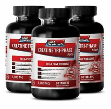 Muscle Building - Creatine Tri-Phase 5000mg - Effective Muscle Recovery Pills 3B