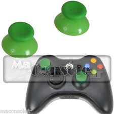 Lot 2 chapeaux de joystick stick pad manette Xbox 360 vert clair NEUF