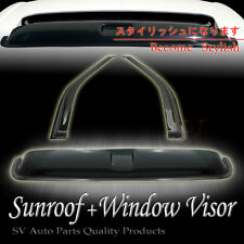 "96-00 Honda Civic Coupe Window Vent Shade Visor +35"" Top Moonroof Sun Roof Combo"