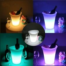 7 Colors 12 LED Light Ice Bucket Champagne Wine Drinks Beer Ice Cooler Bar Party