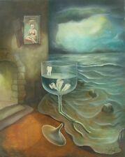 Daniel DELVAT (XX- XXI) HsT Années 80 Surréaliste Surrealism École belge
