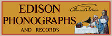 "24"" X 7.8"" Reproduced Edison Phonographs & Records Canvas Banner"