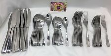 55pc Oneida China 6-08 Flatware Service for 8 + Extras Unknown Curved Design