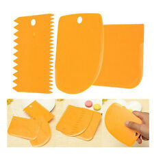 3Set Plastic Pastry Butter Bake Scraper Blade Cake Cookie Cutter Supply  Random