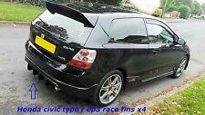 honda civic type r /ep3/honda type s /honda civic ep3/ diffuser/bumper fins