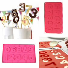 Silicone DIY 0-9 Numbers Lollipop Candy Chocolate Cake Fondant Mold Mould Decor