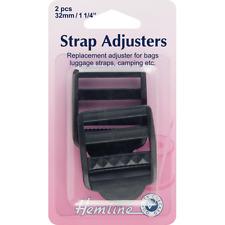 Hemline 32mm Adjustable Strap Buckle Clip Black Webbing Luggage Bag Camping