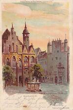 AK-Hildesheim-Marktplatz und Rathaus-Künstler-AK.W.Ritter-1900