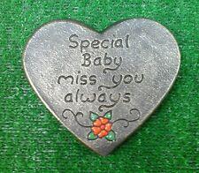 Baby Memorial stone.plaque.heart.grave marker tear drop no 1
