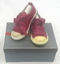 KIDS PRADA SNEAKERS PINK/WHITE  LACE UP   SIZE EU 23 / USA 5 PRE SCHOOL