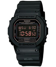 CASIO G-SHOCK DW-D5600MS-1 BLACK MILITARY WATCHES. WR 200 M. GTIA. 2A.