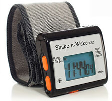 Tech Tools Shake-n-Wake Silent Vibrating Alarm Wrist Watch (Black) PI-107