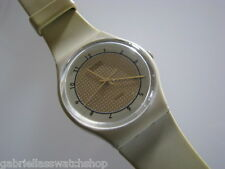 GOLDEN TAN! Vintage 1984 Beige Gents Swatch-RARE!