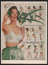 1954 Sexy Women in MAIDENFORM Bra & Animal Costumes - Lion -Alligator VINTAGE AD
