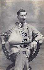 WW1 wounded soldier hospital blues arm in sling Oxford photographer