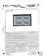 APS SALES SHEET -- Saudi Arabia L161 Blk of 4 No Overprint