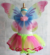 "18""x19"" Butterfly Fairy Wings Rainbow Glitter Angle Wing Halloween Party Costume"